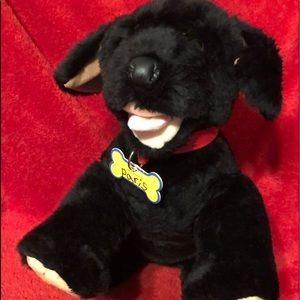Build a Bear Black Pup-retired